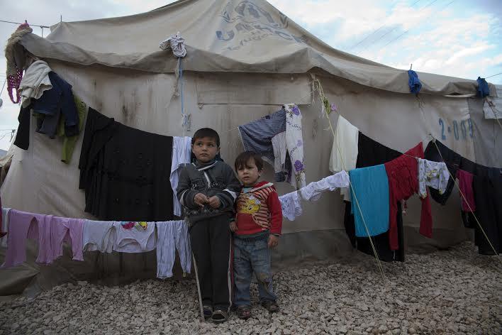 Hazim og familien har vært på flukt i tre år. Foto: Truls Brekke, UNICEF
