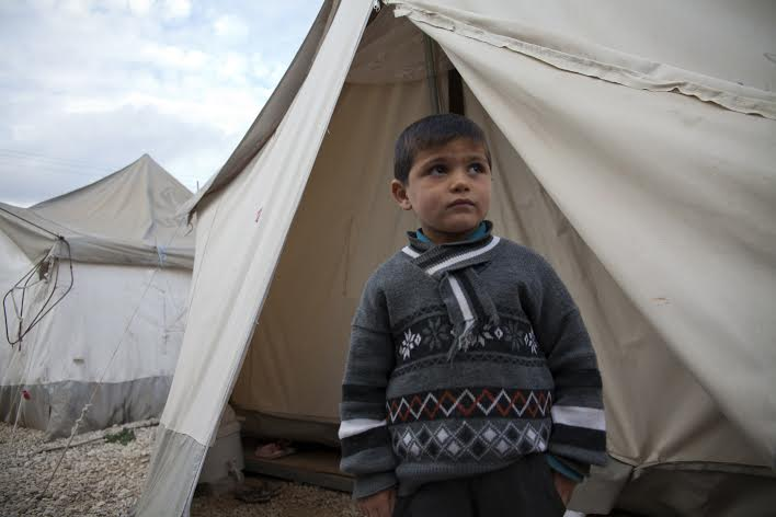 Hazim er fire år - like gammel som krigen. Hvordan kan Hazim få en normal barndom? Foto: Truls Brekke, UNICEF