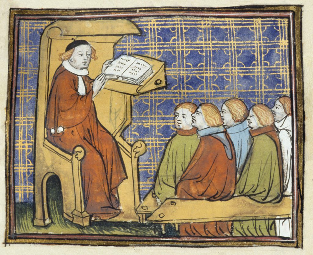 Forelesning, Bartholomeus Anglicus (1200-tallet). Er forelesninger gått ut på dato?
