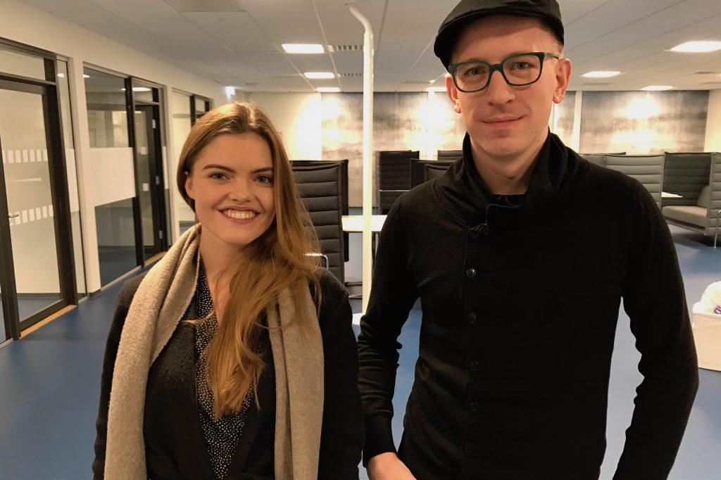 Forsker under utdannelsen. Victoria Uleberg Vildalen og Mikael Hedné. Foto: Fredrik Lian