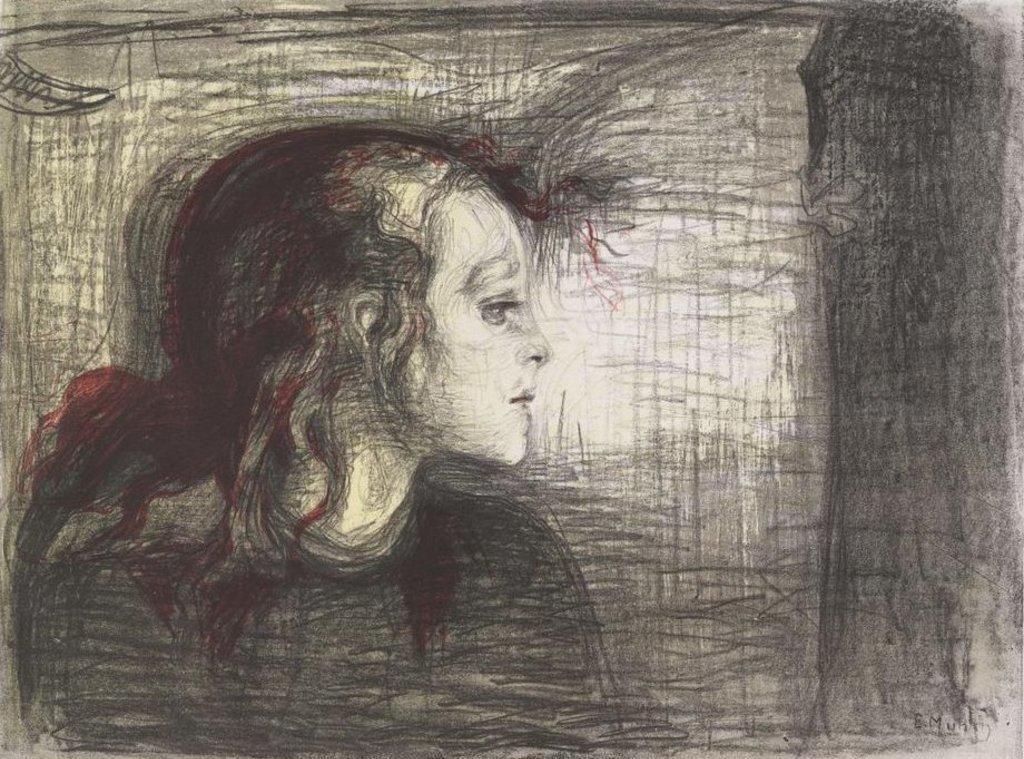 """""""Det syke barn"""". Edvard Munch."""